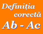 Definitia corecta Ab - Ac